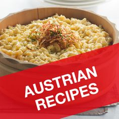 If you are craving a taste of Austria then you will love our all-time classic Austrian recipes: ✓ Wiener Schnitzel ✓ Kaiserschmarren ✓ Glühwein & many Austrian Recipes, Best Italian Recipes, Croatian Recipes, Hungarian Recipes, French Recipes, Veggie Recipes, Chicken Recipes, Dinner Recipes, Cooking Recipes