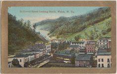 McDowell Street looking north, Welch, WV 1910