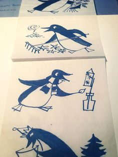 Penguin Archive: Hans Schmoller's sketches for the 25th anniversary of Penguin.