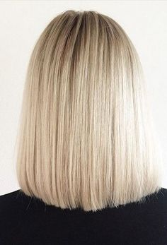 short length hairstyle ideas - blunt blonde bob