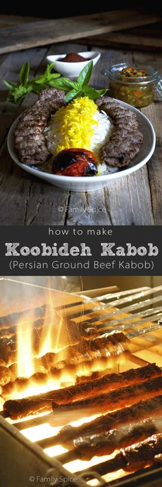 How to Make Koobideh Kabob (Persian Ground Beef Kabob) by FamilySpice.com