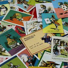 Details about  Alice's Adventures in Wonderland Mini Postcard Set (60post cards + 36envelopes)