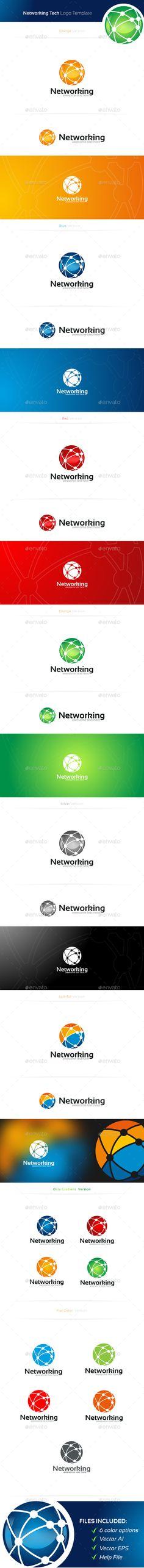 Networking Logo Template #design #logotype Download: http://graphicriver.net/item/networking-logo/11374694?ref=ksioks