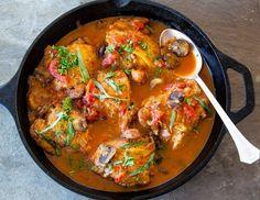 Chicken chasseur recipe (Poulet Sauté Chasseur)