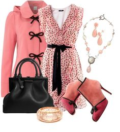 """Tea Dress Pink"" by stylesbyjoey on Polyvore"