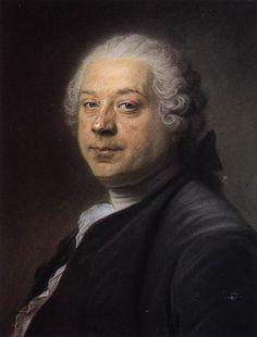 Maurice Quentin de La Tour - Ritratto di Charles Parrocel