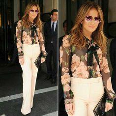 J Lo Fashion, Work Fashion, Womens Fashion, Mode Outfits, Chic Outfits, Fashion Outfits, Work Attire, Jennifer Lopez, Her Style