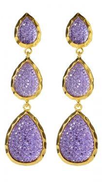 I love this color!  East Hampton Star Earrings, Lavender