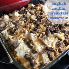 I promised I would share the recipe if I liked it. Well here it is! INGREDIENTS 4 English muffins 3.5oz Jimmy Dean sausage crumbles 2oz FF cheddar cheese 16oz liquid egg whites  DIRECTIONS Cut up muffins into small bite size pieces and place in casserole dish. Add sausage, cheese, then eggs. Season with S&P. Bake at 350° for 25 minutes. Time will vary based on your oven.  YIELDS 4 large servings at 5sp each. I usually use lower point English muffins, but they were out at the grocery store…