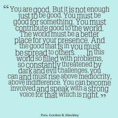 15 inspiring quotes from President Gordon B. Hinckley | Aggieland Mormons