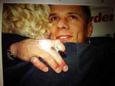 Larry Mullen Jr with a fan #LarryMullen #LarryMullenJr #u2NewsActualite #u2NewsActualitePinterest #u2 #rock #music #LarryMullen #fan http://deenasdays.com/2012/04/13/l-is-for-larry-mullen-jr-my-favorite-drummer/