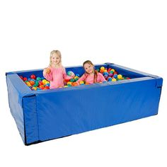 Our Rectangle Budget Ball Pit meets the budget for a durable, rugged version of the larger recreational ball pits with a lower price. The ball pit uses two of our 78 Ball Pit Gif, Ball Pits, Sensory Equipment, Special Needs Toys, Soft Play, Motor Skills, Things That Bounce, Budgeting, Cerebral Palsy