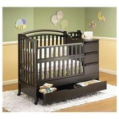 mini crib changer combo   Orbelle Mini Crib N Bed With Changer - Cappuccino M312CA - Reviews ...