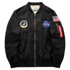 Men Bomber Jacket 2017 Air Force One Hip Hop Patch Designs Slim Fit Pilot Bomber Jacket Coat Men Jackets