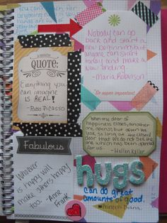 smash book page quotes