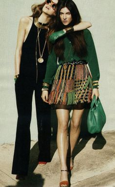 the green glove is a little much but the outift of the friend is worth a trip to NY or Italy or whereever they sell it...sharp. - willeWOODwork
