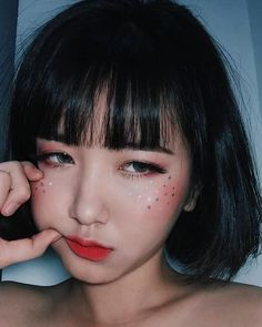 "ೃ✧such an incredibly gorgeous brown-eyed brunette along with her beautiful,,(""Sexy Hot Bangs absolutely 👉 Beautiful"")! Kawaii Makeup, Cute Makeup, Pretty Makeup, Beauty Makeup, Makeup Looks, Hair Makeup, Hair Beauty, Korean Eye Makeup, Asian Makeup"