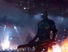 Cyborg by jamajurabaev on DeviantArt Jama Jurabaev, Prison, Future Soldier, Arte Robot, Star Wars Vehicles, War Dogs, Futuristic Art, Fantasy Warrior, Fantasy Girl