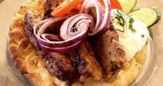 Greece Food, Hungarian Recipes, Hungarian Food, Beef Recipes, Feta, Hamburger, Waffles, Sausage, Bacon