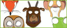 Gruffalo Masks...A set of Gruffalo inspired role-play masks designed by freelance graphic designer Paul Cullis . Please note that this resource is unofficial and has not been endorsed by the author or publisher. #gruffalo
