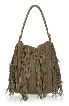 Topshop+Fringe+Suede+Hobo+Bag+available+at+#Nordstrom