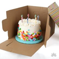 Tall Window Cake Box great for delivering tall tiered cakes.  Also features a clear window lid. | CaljavaOnline.com
