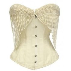 Corset with pearl decoration