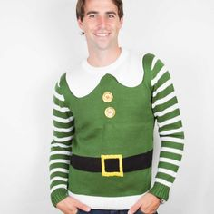 Elf Christmas Jumper Costume is the cheesiest way to start your Christmas celebrations. The perfect green elf style Christmas Jumper for the Christmas season. Elf Christmas Jumper, Christmas Jumpers, Christmas Costumes, Elf Yourself, Elf Costume, Buddy The Elf, An Elf, Favorite Color, Smile Smile