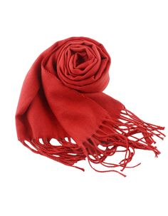 Red Soild Cashmere Fringer Fashionable Woman Scarf