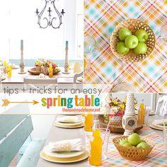 tips + tricks for an easy spring table {sale alert} - the handmade homethe handmade home
