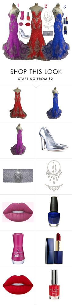 """mahmmod"" by mahmmodhafes on Polyvore featuring Casadei, OPI, Estée Lauder, Lime Crime and Topshop"