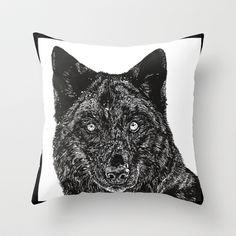 Wolf Throw Pillow by Meredith Mackworth-Praed - $20.00