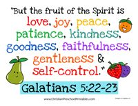 Fruit of the Spirit Bible Verse Printables