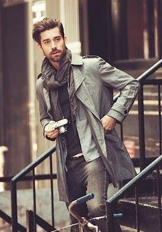Beardies | men style | grey coat