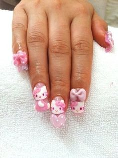 Hello kitty...could be done without the glue ons.