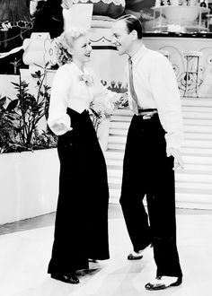 Ginger Rogers and Fred Astaire.