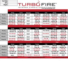 turbo fire calendar schedule more turbo fire workout schedule turbo ...