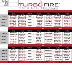 Turbo Fire Class Schedule | Turbo Fire Workout Calendar | Print A ...
