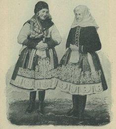 Casopis cesky lid XVI.  Zimní a jarní oděv děvčat z Boršova