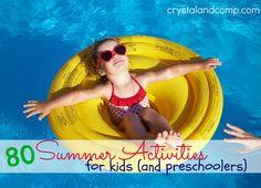summer activities for kids and preschoolers