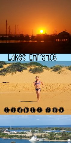 Lakes Entrance is located on the Gippsland Lakes in Victoria, Australia. Lakes Entrance is a summer hotspot for family summer holidays