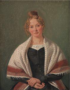 Constantin Hansen (1804-1880): Portrait of Hanne Wanscher, née Wegener, 1835