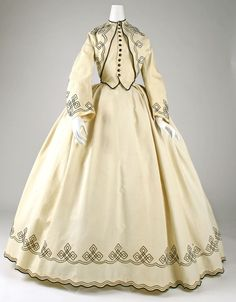 Promenade dress Date: 1862–64 Culture: American Medium: cotton