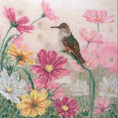 Bird And Floral - Counted Cross Stitch Kit