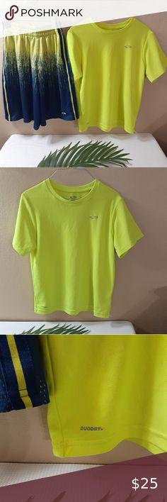 Boys Athletic Shorts Medium 8-10 Basketball Workout Gym Run Pockets Green Mesh