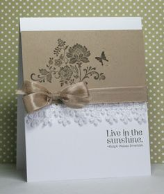 """love the simplicity of this. Could be for a wedding, sympathy or just an everyday """"hello""""."""