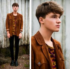 Suede Jacket, Cheap Monday Skinny Jeans, Dr. Martens Leather Shoes, Printed T Shirt
