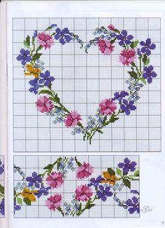 Flower wreath needlepoint