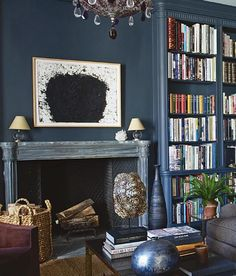 Smouldering Sexy Fireplace Mantels to Heat Up Your Night - laurel home | the exquisite home of Aerin Lauder
