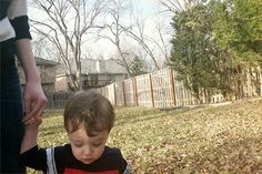 Walking in backyard with toddler | bunnyanddolly.com